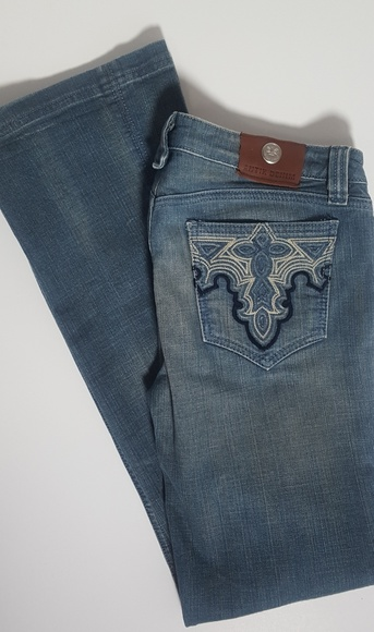 Antik Denim Denim - Antik Denim Jeans 30 Bootcut Stretch  Embroidery